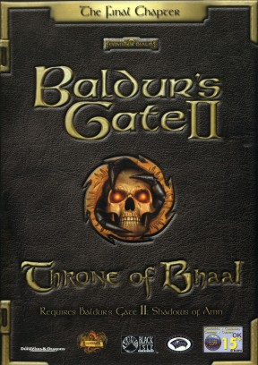 Baldur's Gate II: Throne of Bhaal PC Cover