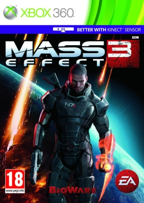 Mass Effect 3 Xbox 360 Cover