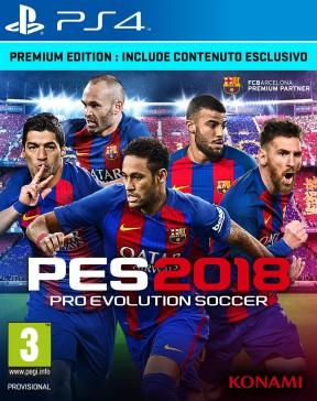 PES 2018 PS4 Cover