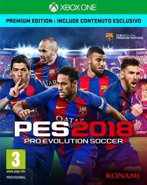 PES 2018 Xbox One Cover
