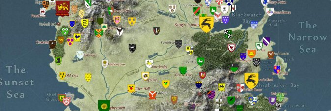 Game of thrones mappa casate