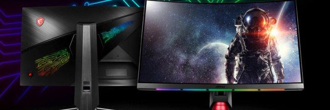 MSI presenta i nuovi monitor curvi con tecnologie PrismSync e GameSense