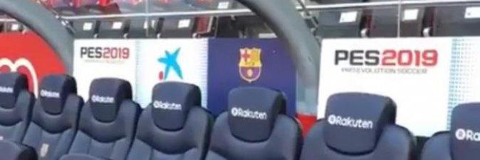 PES 2019 annunciato durante Barcellona Real Madrid